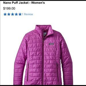 Patagonia nano puff jacket size small